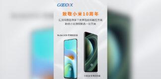 xiaomi mi 10 ultra redmi k30 proveedores chinos tcl goodix