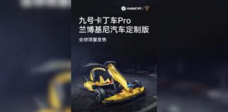 xiaomi ninebot gokart pro lamborghini edition kart eléctrico