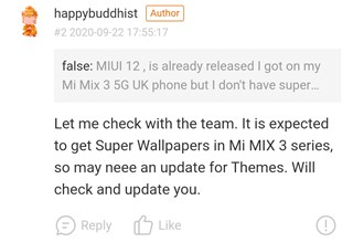 xiaomi mi mix 3 5g super wallpaper bug