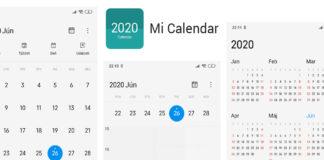 calendário xiaomi miui 12