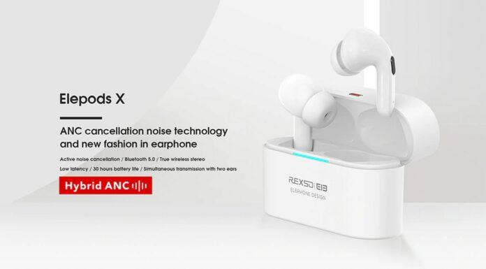 kod rabatowy elephone elepods x oferta tws anc słuchawki bluetooth
