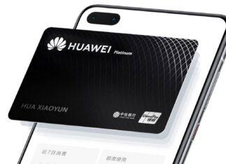 tarjeta huawei tarjeta de crédito china