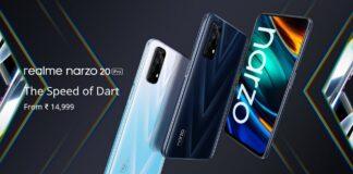 Realme Narzo 20, 20 Pro e 20A ufficiali