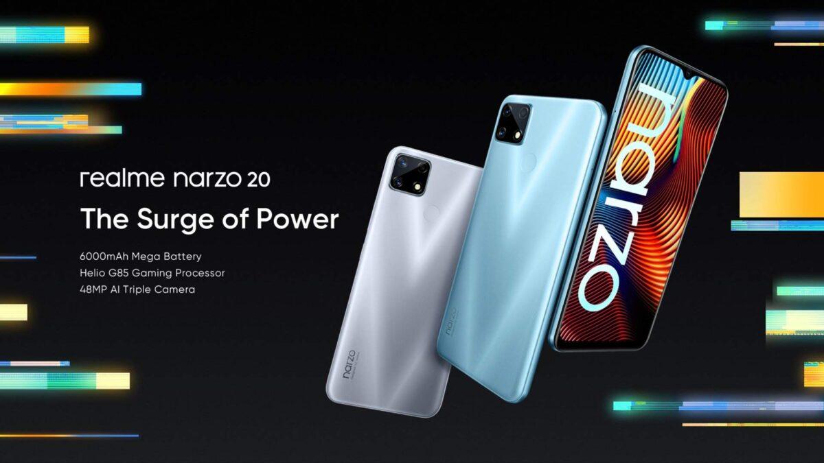 Realme Narzo 20, 20 Pro and 20A official