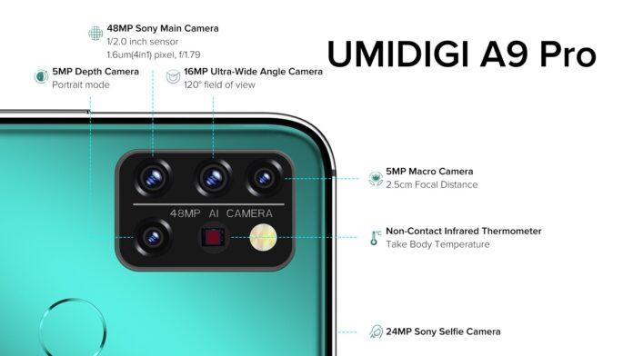 umidigi a9 pro specifiche termometro infrarossiprezzo uscita