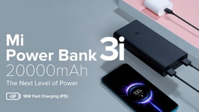 xiaomi mi power bank 3i