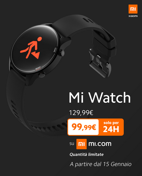 xiaomi mi watch global italia prezzo