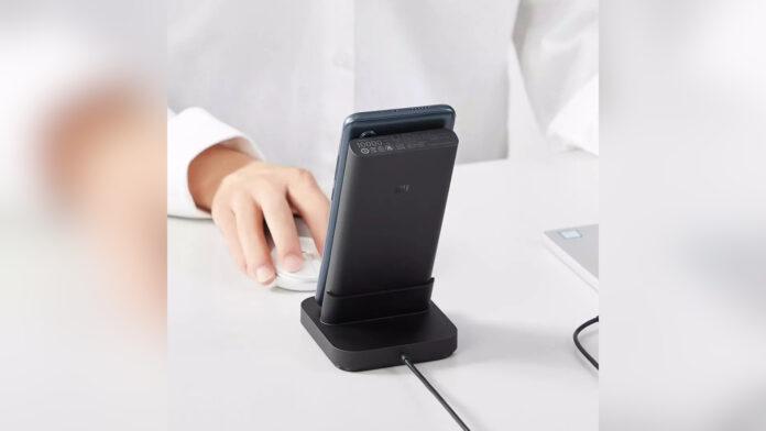 xiaomi power bank base chargement sans fil 30w