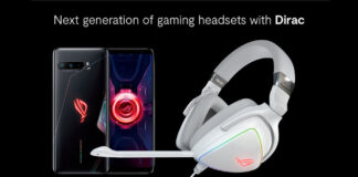 asus rog phone 3 profilo audio gaming cuffie