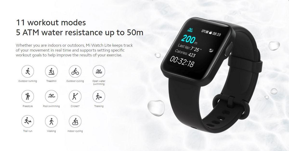 Xiaomi Mi Watch Lite ufficiale