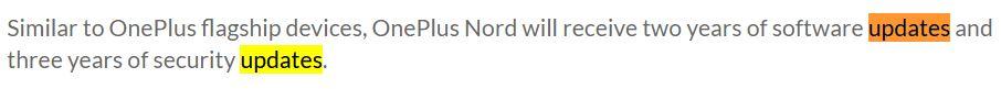 oneplus nord politica aggiornamenti