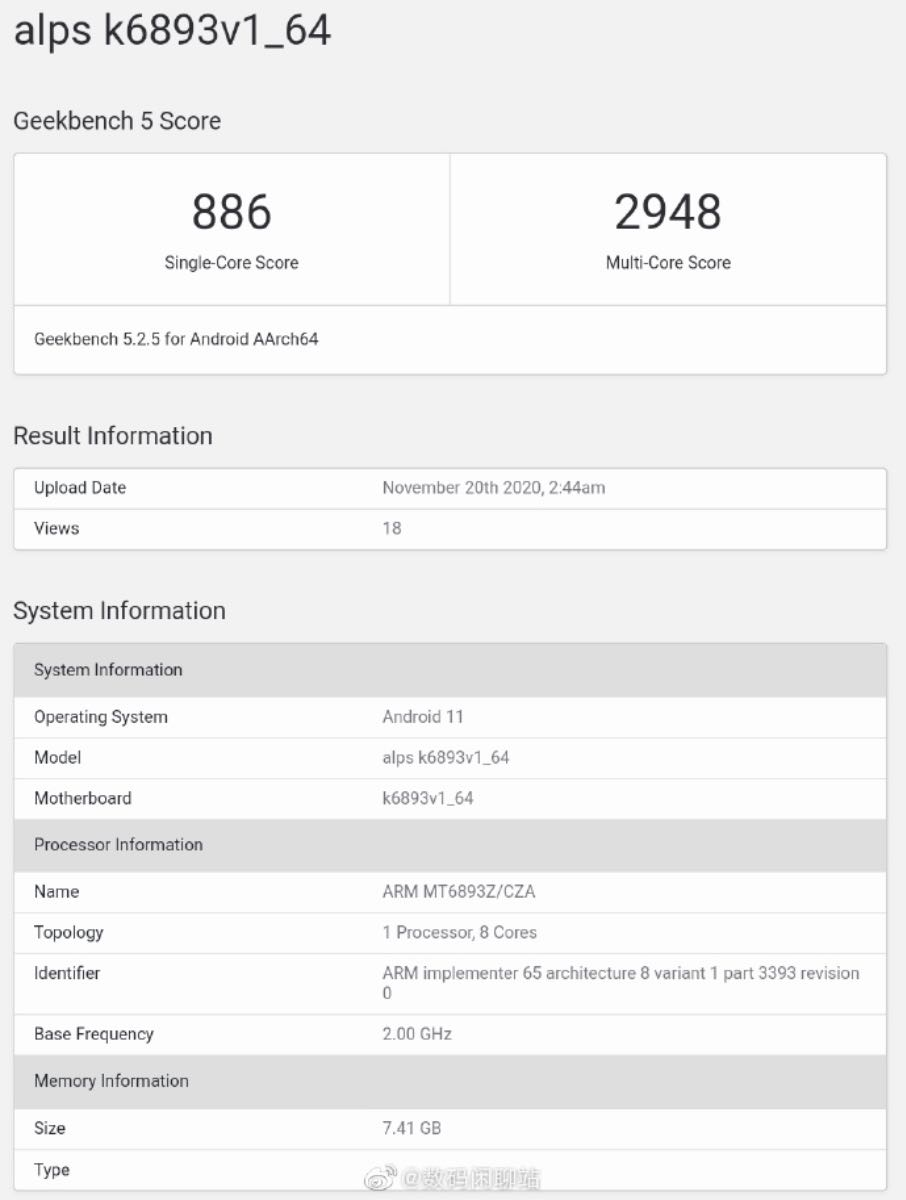 mediatek mt6893 benchmark 4