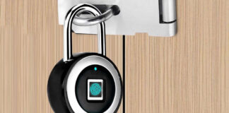 offerta lucchetto smart impronta digitale padlock