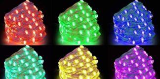 offerta set luci natale smart striscia 2