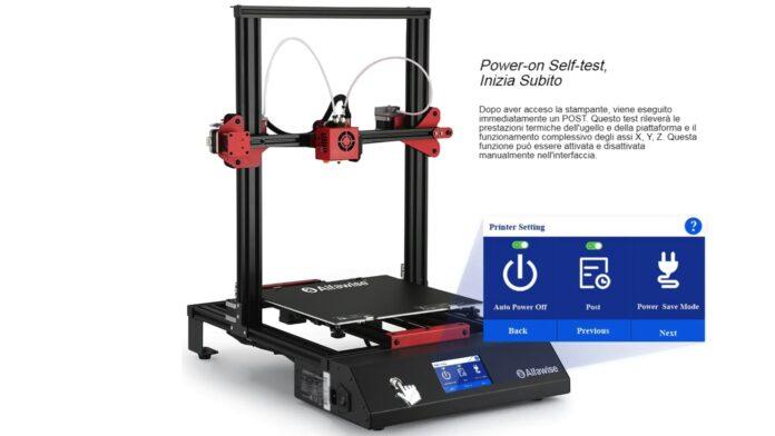 offerta stampante 3d smart alfawise
