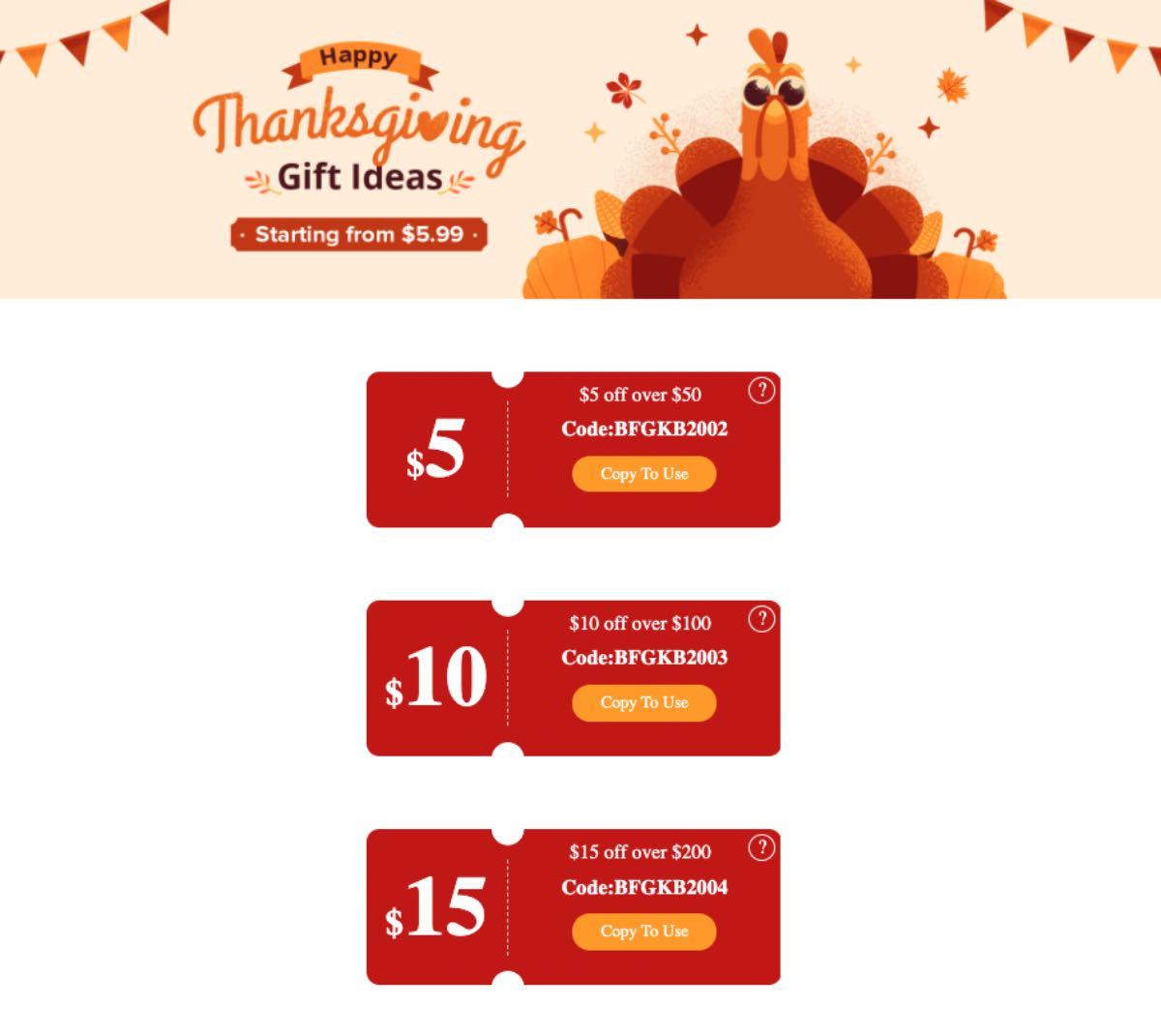 offerte coupon geekbuying black friday 2020 thanksgiving