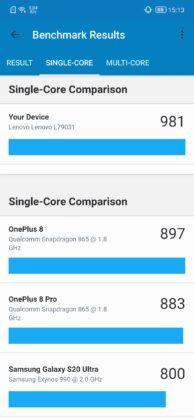 Legion Phone benchmark