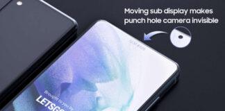 samsung galaxy s22 selfie camera display