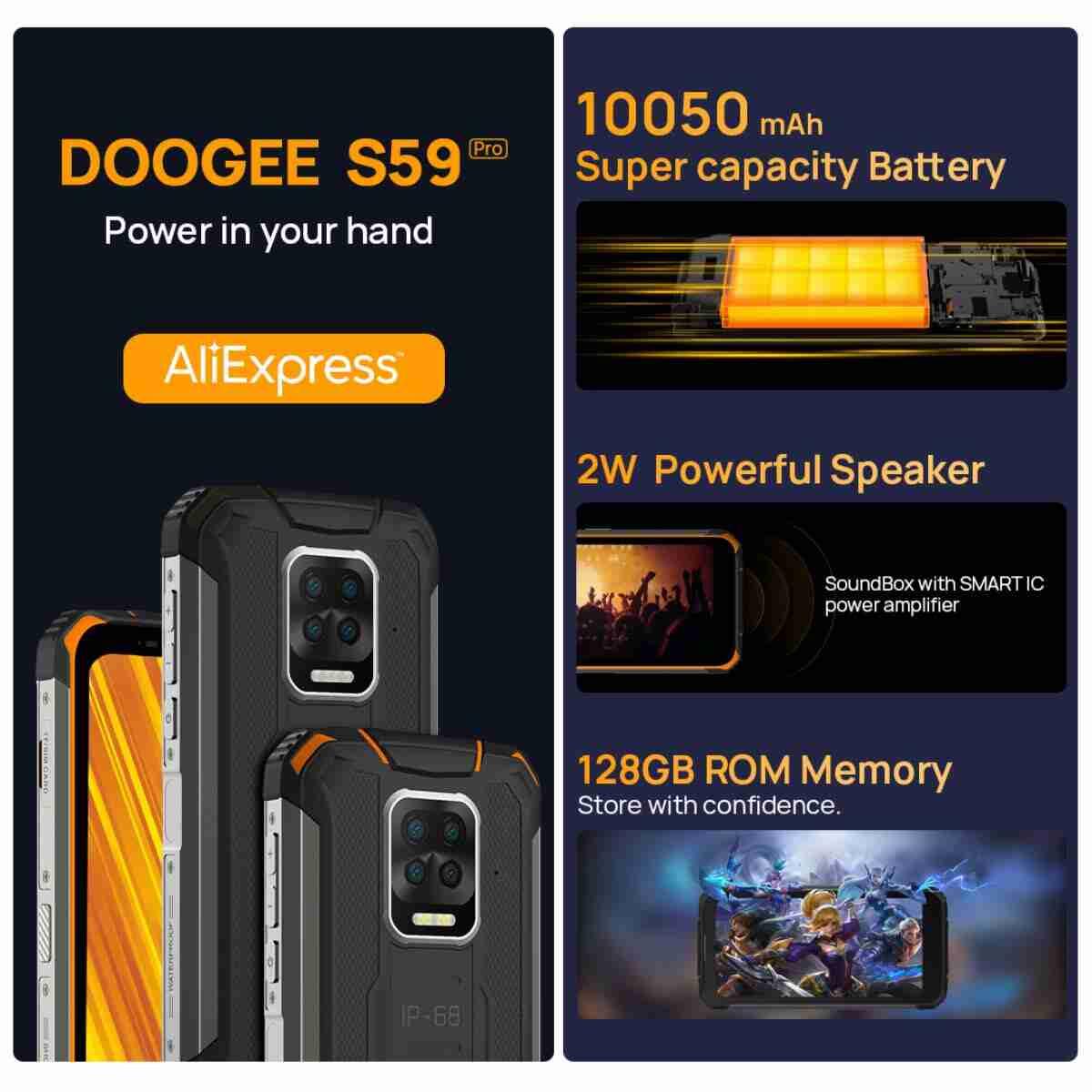 doogee s59 pro smartphone rugged