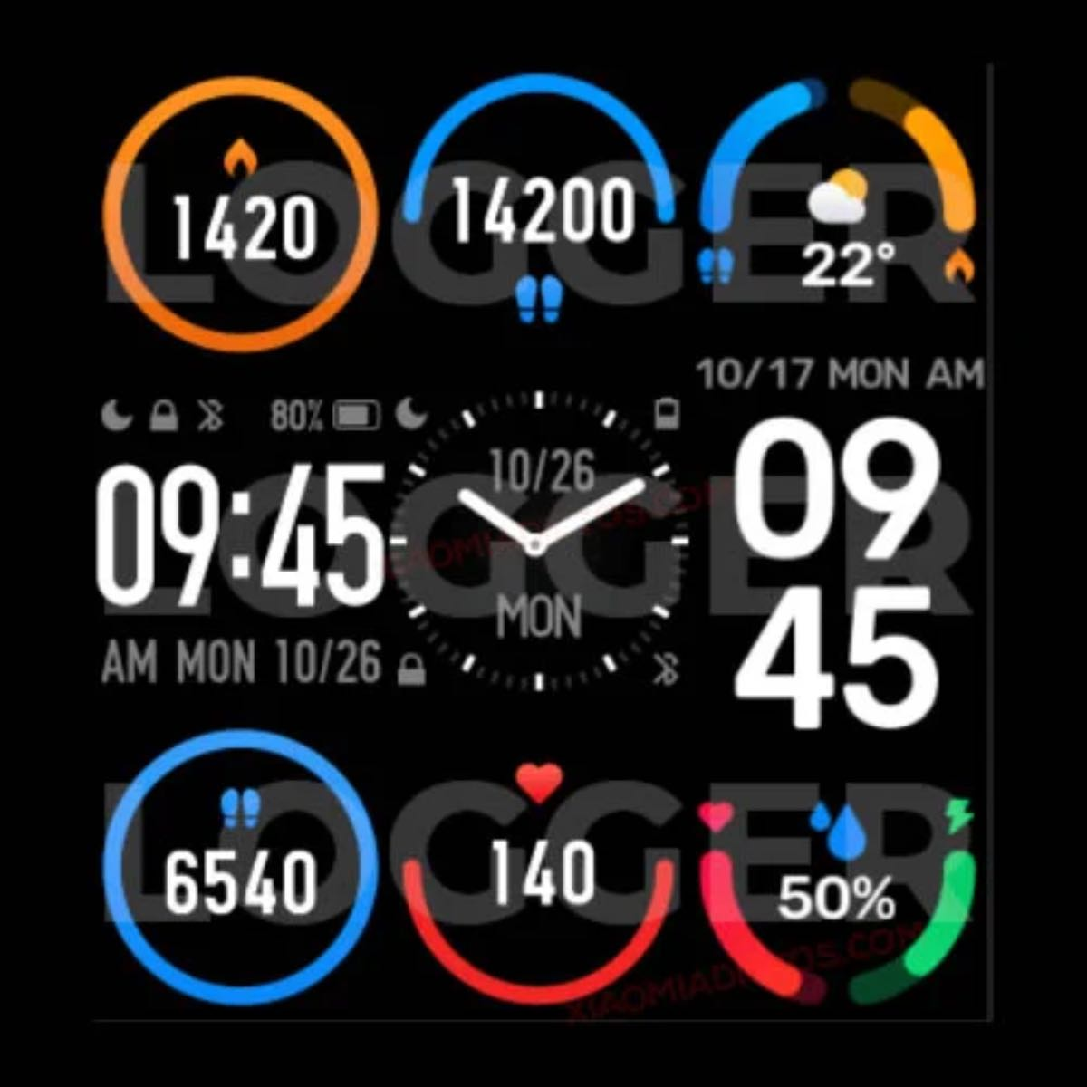 xiaomi mi band 6 display watch face