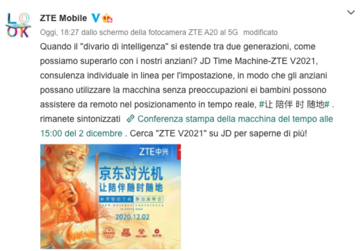 zte v2021 smartphone app anziani