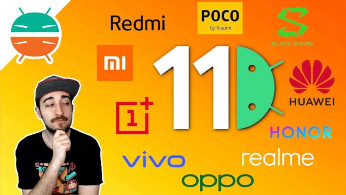 chi aggiorna di più android 11