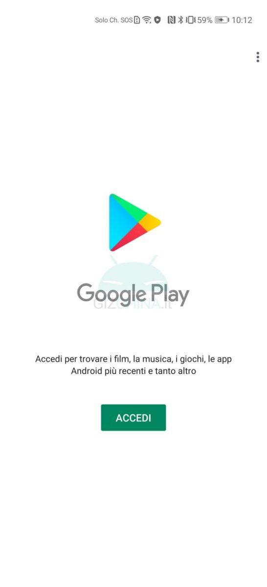 come installare servizi google huawei gspace