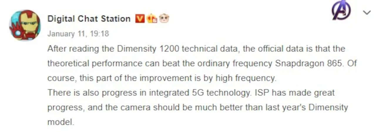 mediatek dimensity 1200