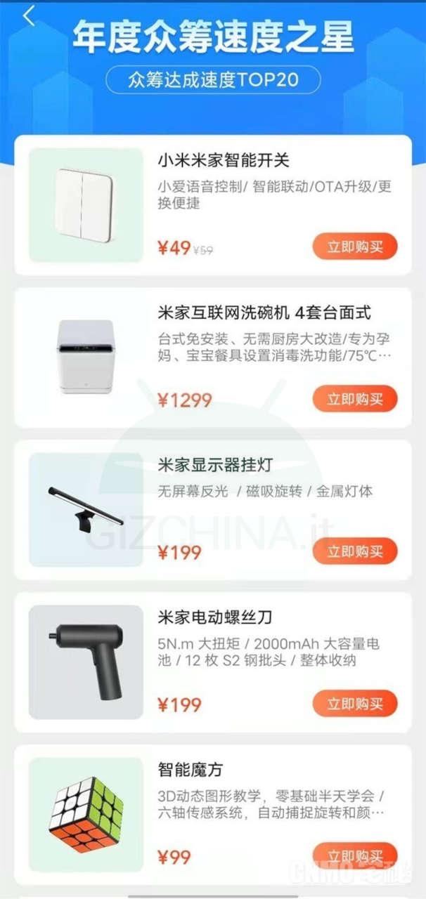 xiaomi youpin più venduti