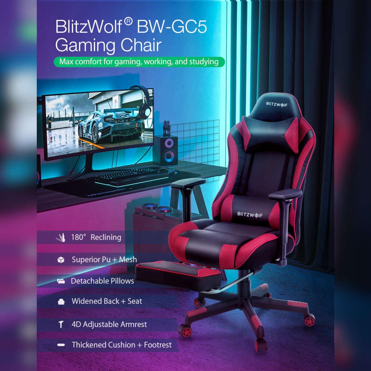 blitzwolf sedia gaming offerta bw-gc5