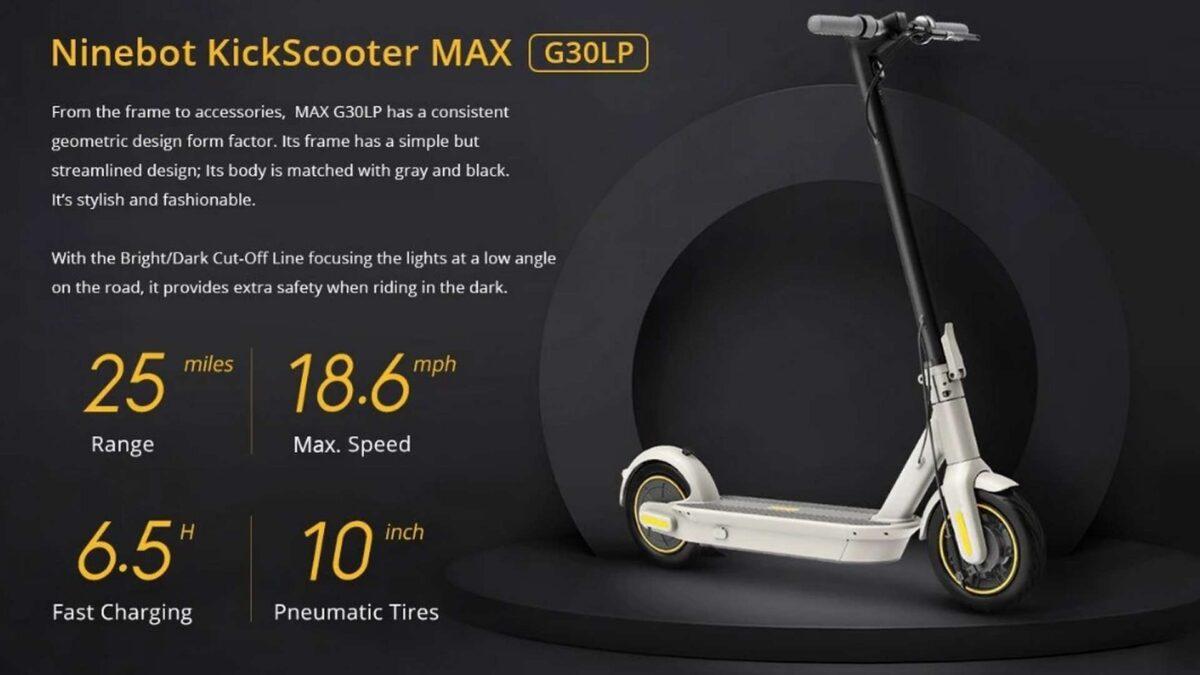 Codice sconto Segway Ninebot MAX G30LP