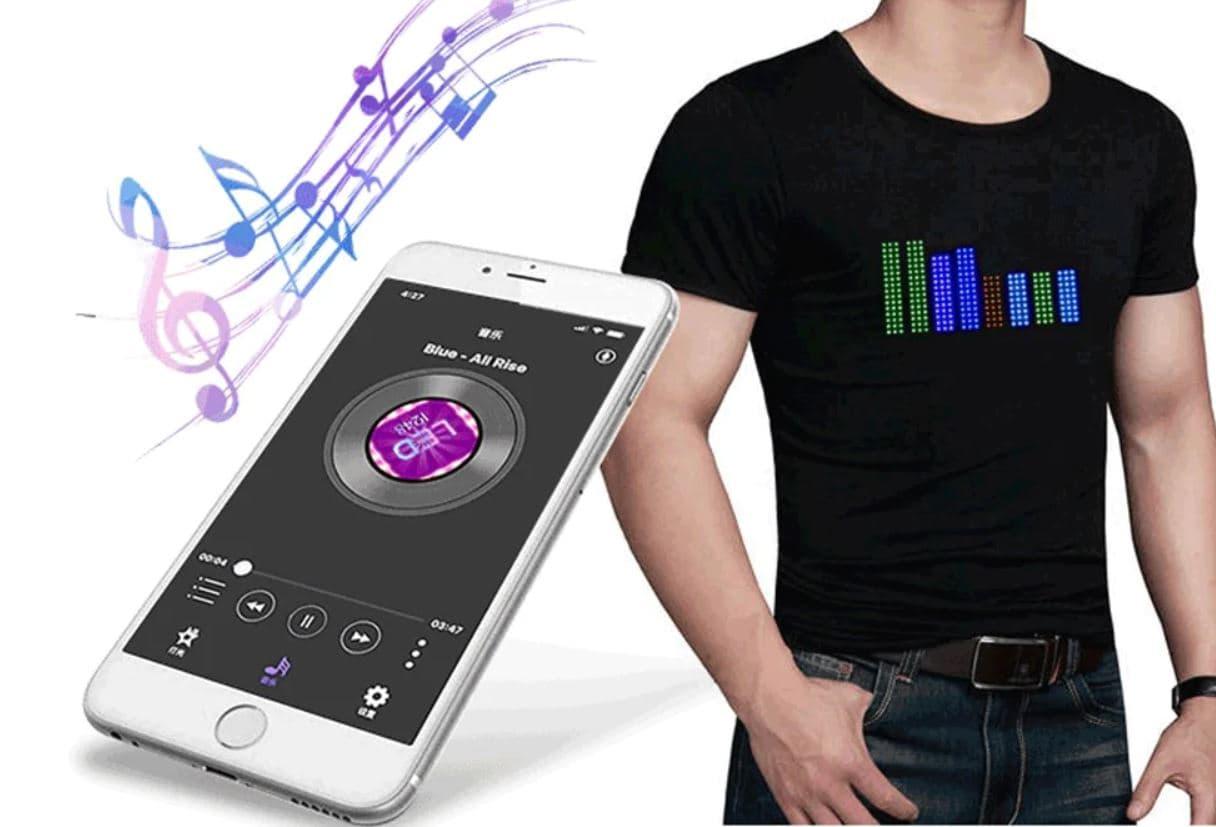 Maglietta Smart comandabile da APP – GearBest