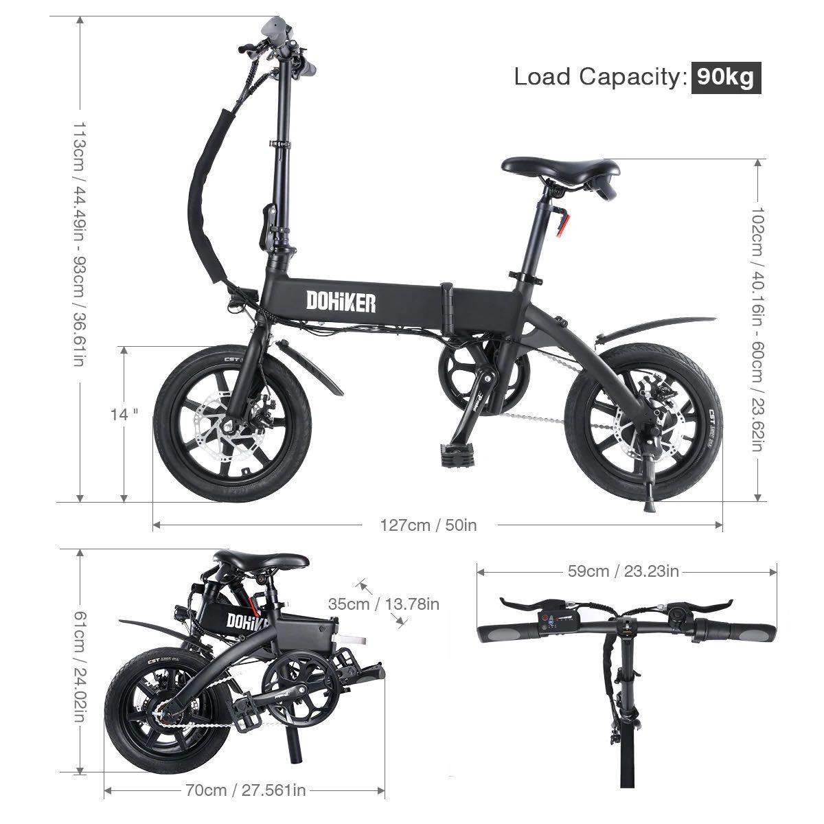 offerta bici elettrica pieghevole dohiker