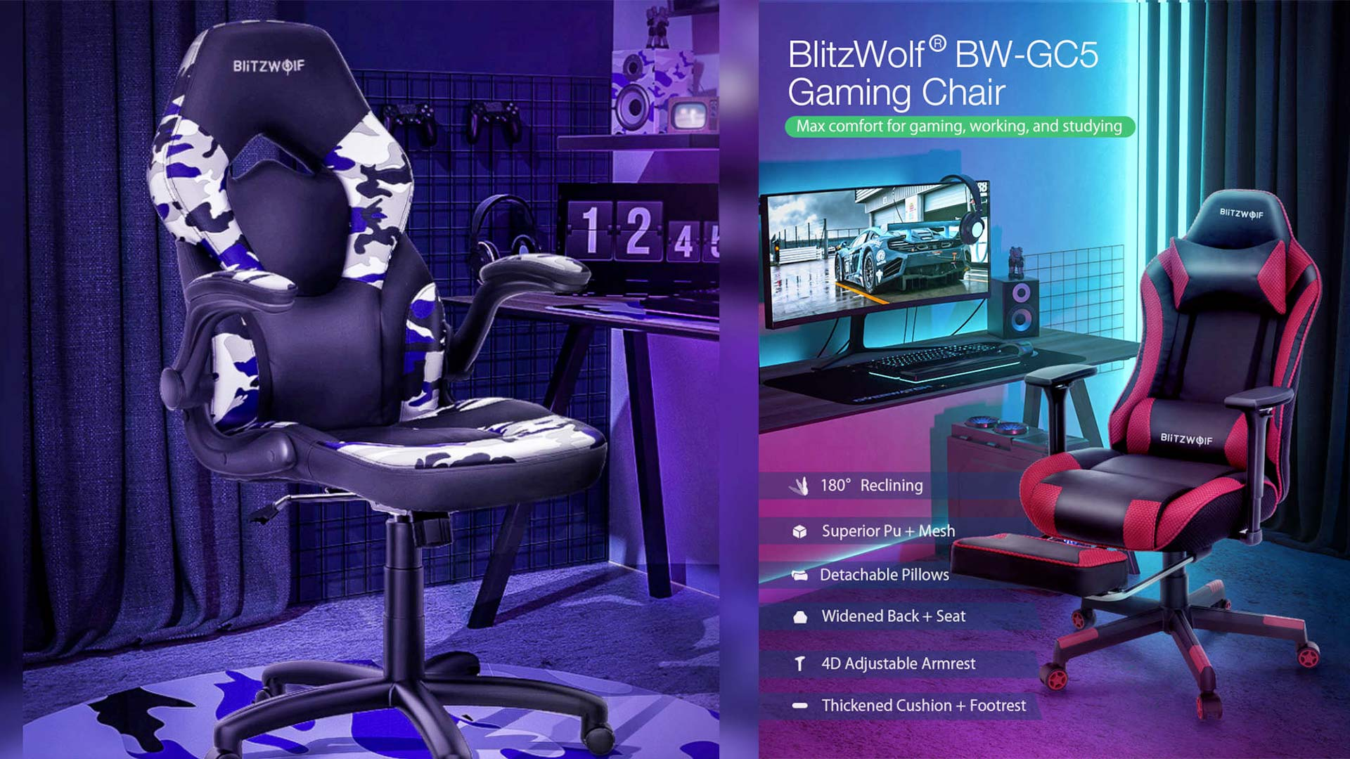 Blitzwolf Gaming Chair Discount Code Armchair Offer And Coupon Gizchina It