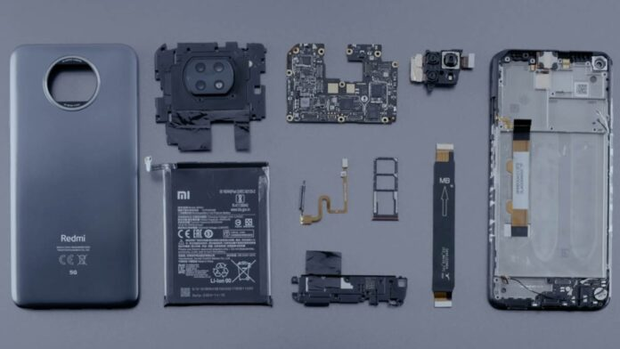 redmi note 9t teardown