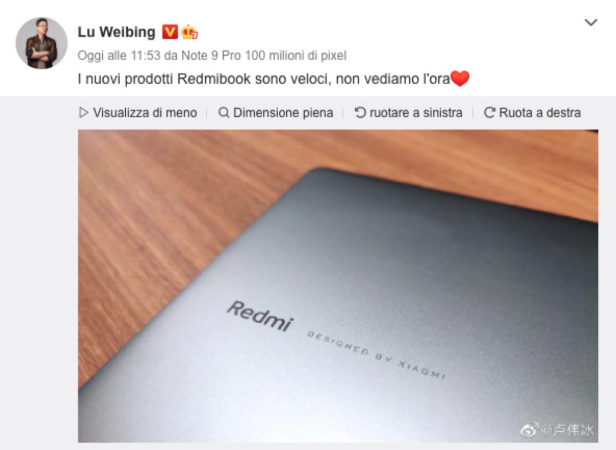 redmibook pro design xiaomi