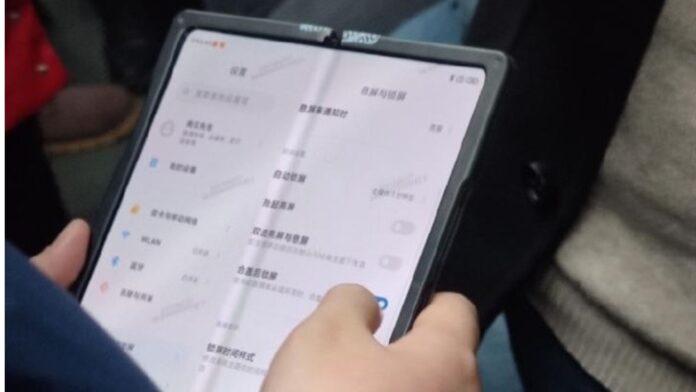 xiaomi smartphone pieghevole foto display