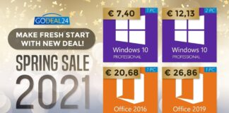 windows 10 office 2016 2019 offerte licenze codice sconto