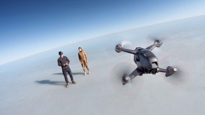 dji fpv drone 4k visore vr
