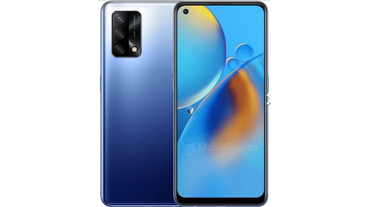 oppo a74 blue design