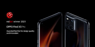oppo find x3 pro red dot
