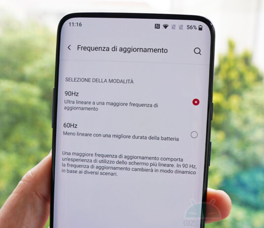 oneplus 7t pro oxygenos 11 refresh rate