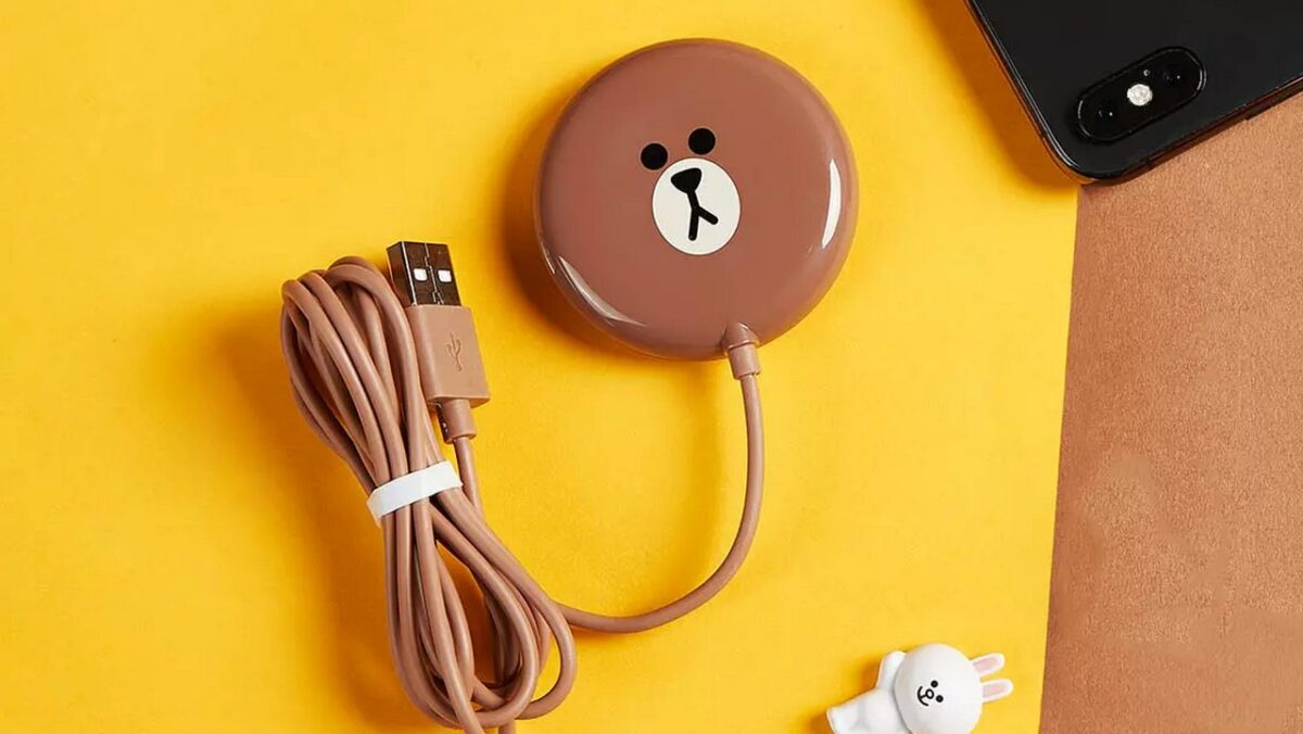 caricabatterie wireless xiaomi line friends