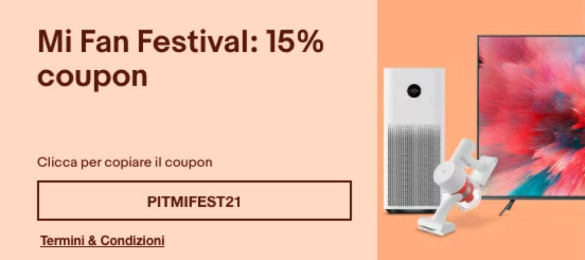 ebay coupon mi fan festival offerte xiaomi 2