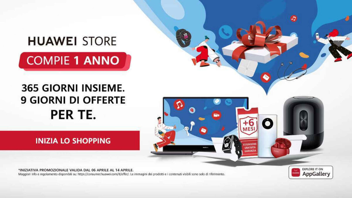 huawei store compleanno
