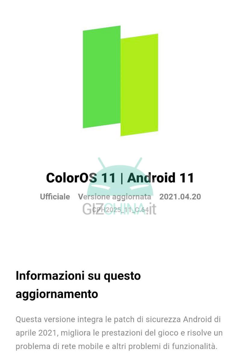 oppo find x2 pro aggiornamento patch sicurezza aprile 2021 italia 2-1