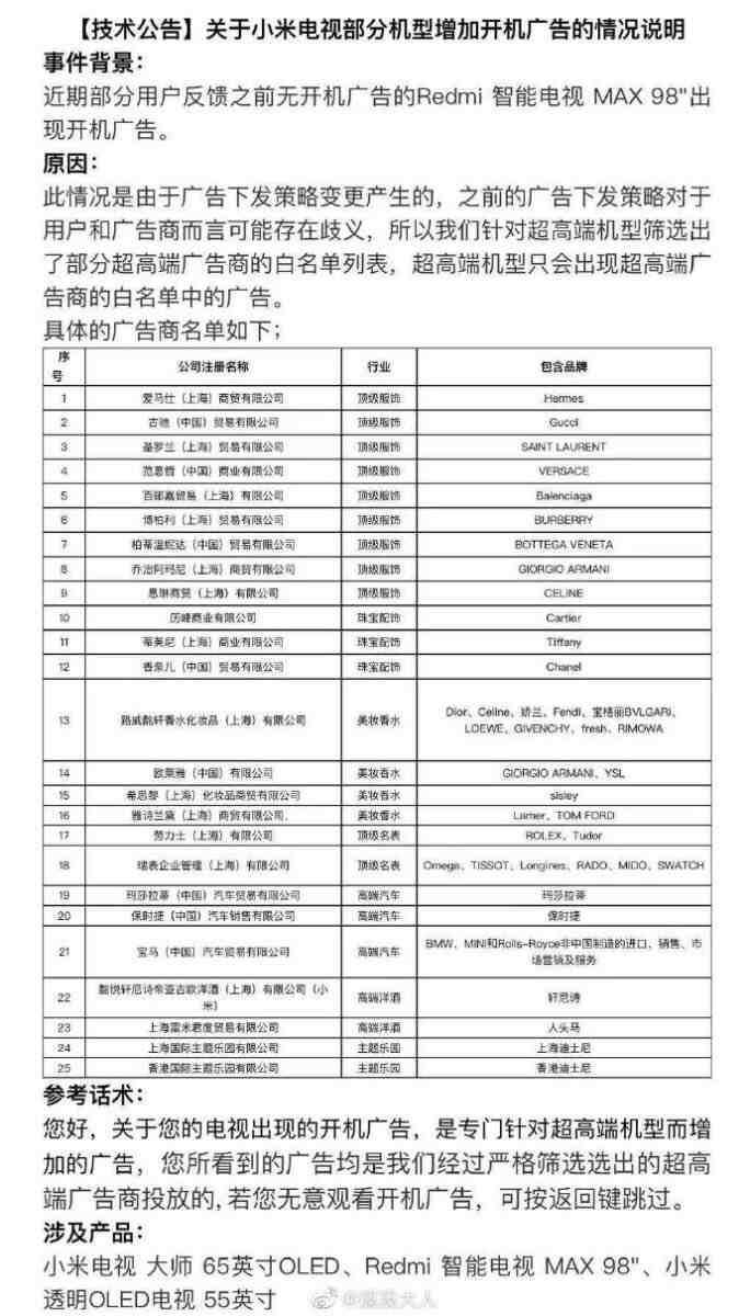 xiaomi smart tv top gamma pubblicità profilazione 2