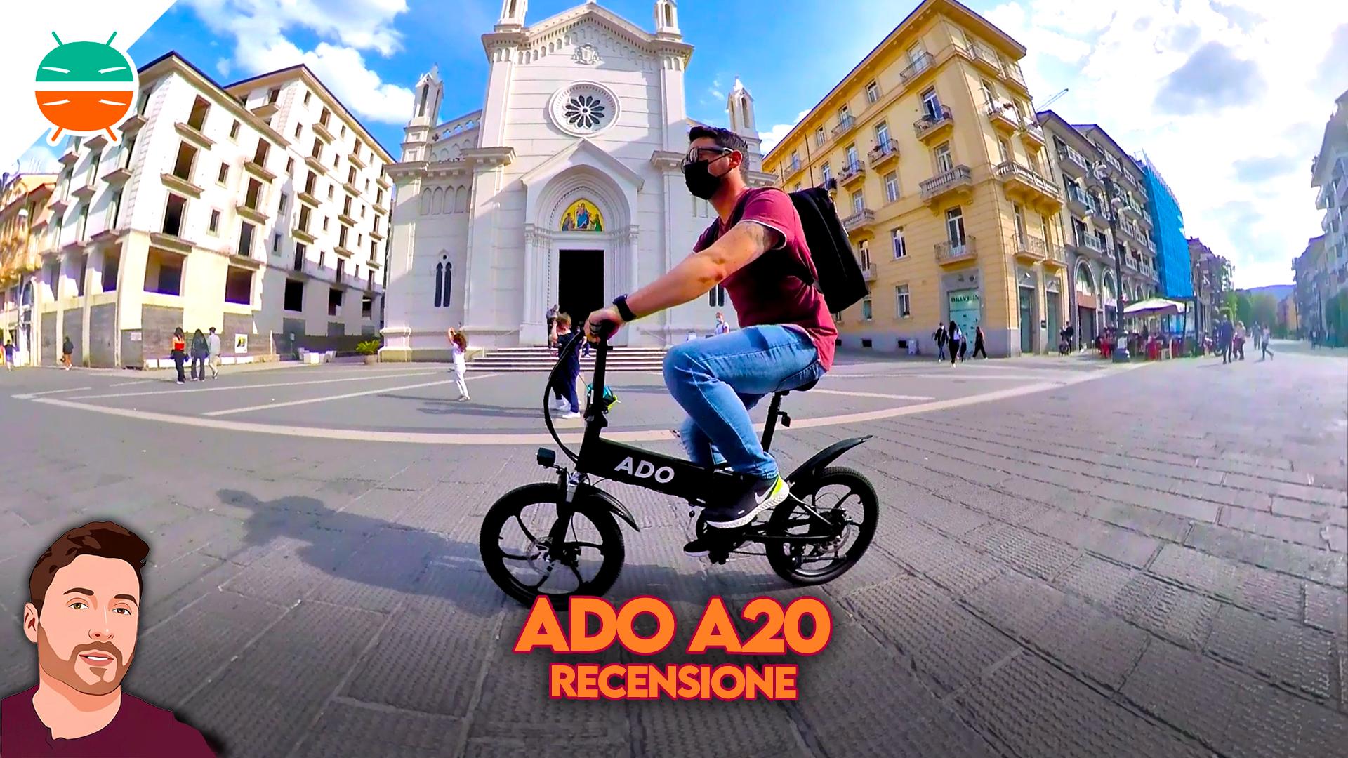 ADO A20 Test zusammenklappbares Elektrofahrrad, leistungsstark ...