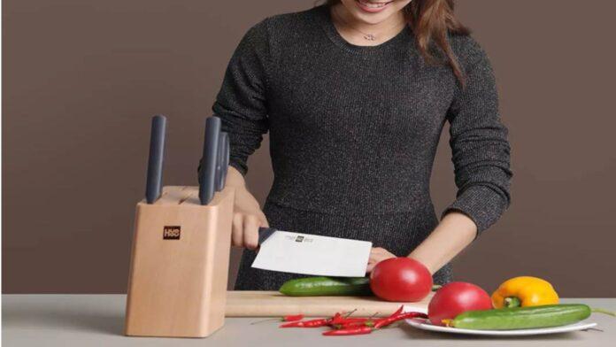 xiaomi huohou set coltelli ceppo portacoltelli legno prezzo