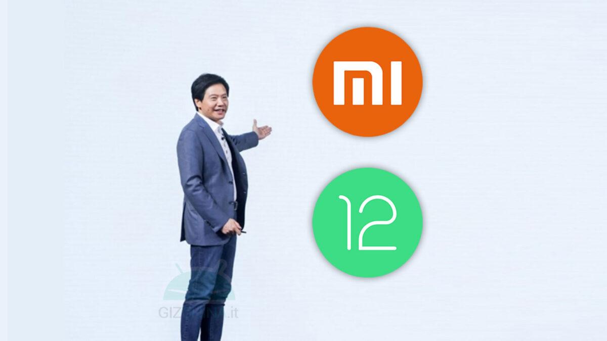 xiaomi android 12 modelli aggiornamento